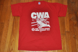 Vtg Russell Athletic CWA Bellsouth Union red Trucker 80s  T-shirt size Large L - $23.99