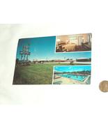 Vintage Unused 1960's Green Crest Motel Hotel Post Card Kansas City Miss... - $9.88