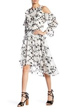 Joie Alpheus Cold Shoulder Hi-Lo Dress Size M MSRP: $448.00 - $197.01