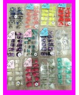 USA Lot of 4 TIP JAR Cases 400 Nail Tips!! Assorted GLITTER Acrylic ~ DU... - $8.88
