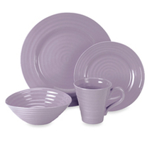 Portmeirion  Mulberry Lilac Purple  Stoneware Dinnerware  4-Piece Place... - $69.99