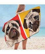 Adorable Pug Microfiber Beach Towel - $22.04+
