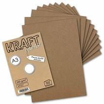 75x Vintage Kraftpapier DIN A3 240 g/m² natur-braunes Recycling-Papier, ... - $46.19