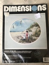 Vintage 1981 Dimensions  Crewel Kit by Adolph Sehring : SUMMER BY THE SEA 1392 - $37.39
