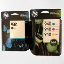 New Hp Officejet 940 Black, Yellow, Magenta Cyan 8000,8500,8500A EXP2014 - $14.03