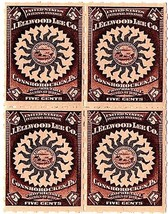 J. Ellwood Lee Co. 5c U.S. IRS RS294 Block of 4, Private Die, Proprietar... - $40.00