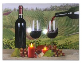 LED Lighted Wine Wall Canvas - Red Wine and a T... - $14.99
