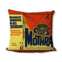Retro Mothra Movie Poster Throw Pillow - 1961 Mothra - Kaiju - Godzilla Movie Po - $20.99