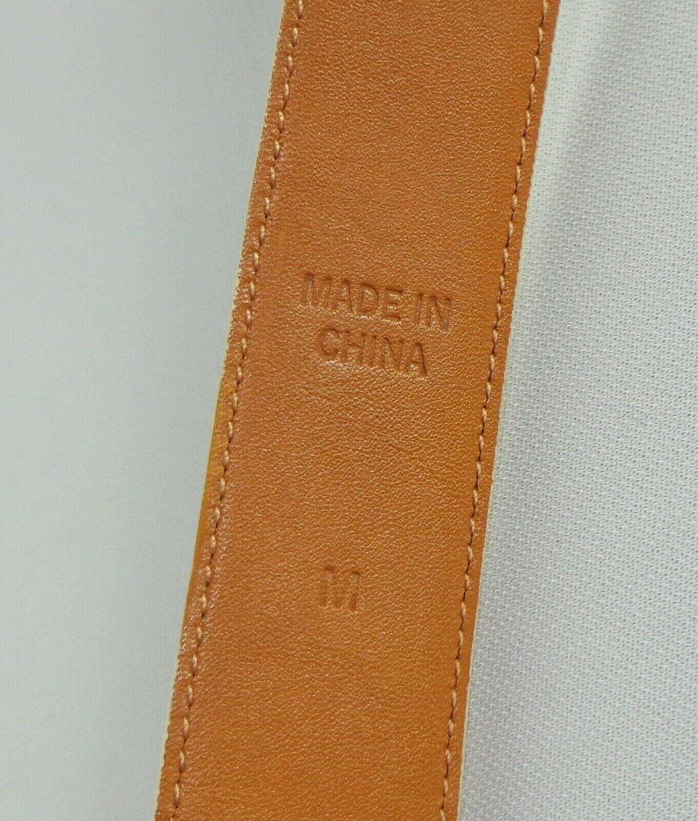 Womens Ralph Lauren Belt Beige Italian Leather Size M