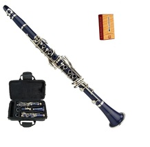 Merano New Bb Dark Blue Clarinet with Case and Extra 10 Reeds - $86.99
