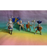 Lot of 5 Safari Ltd Medieval Knight Fantasy Figures Soldiers Horse - $4.94