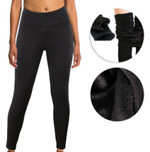 Women's Fleece Faux Fur Lined Thermal Thick Warm Stretch Hight Waist Leggings