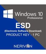 MICROSOFT WINDOWS 10 PRO ESD (Eletronic Software Delivery) FQC-09131 - G... - $16.87