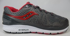 Saucony Echelon 6 Size 11 M (B) EU 43 Women's Running Shoes Red Gray S10384-1