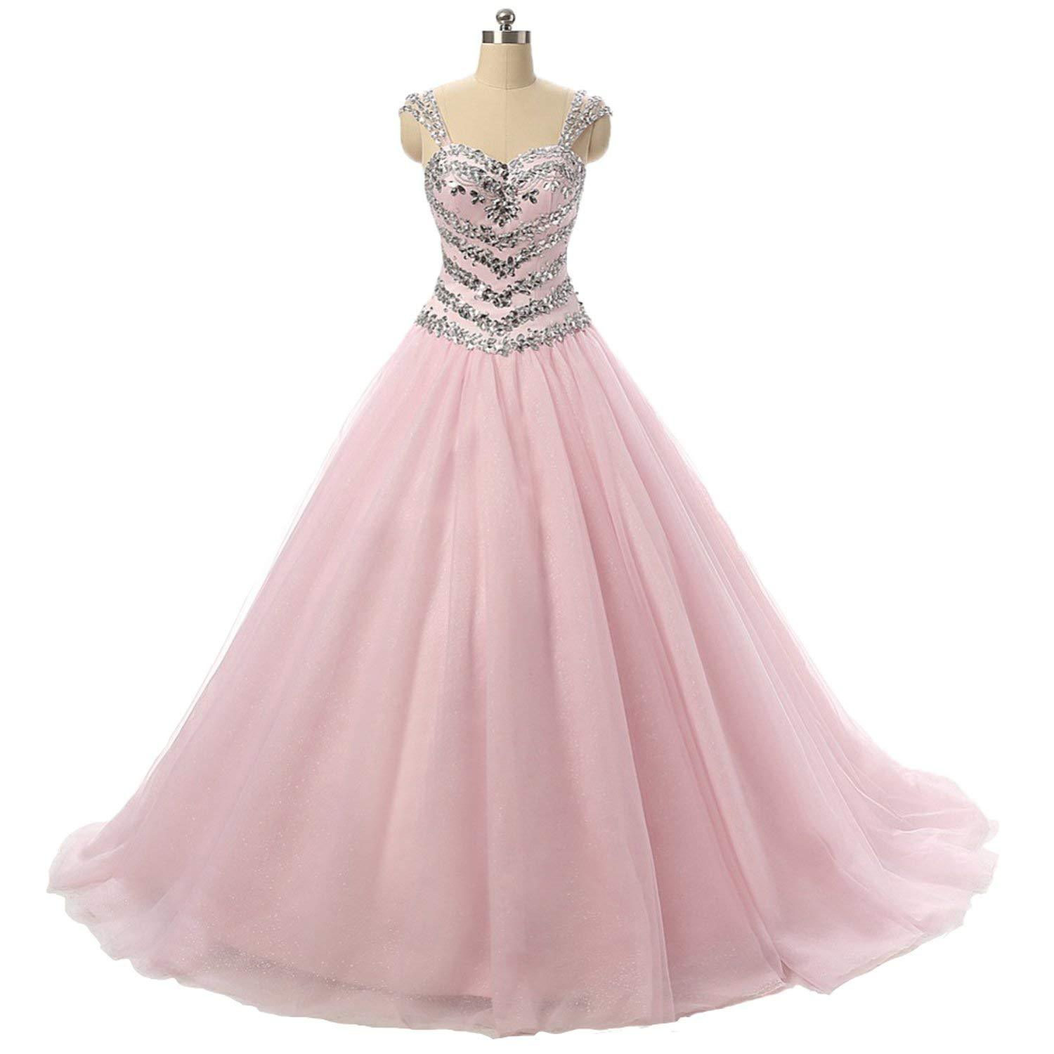 Primary image for Women's Sweetheart Ball Gown Prom Dress Beading Sequins Tulle Formal Party Dress