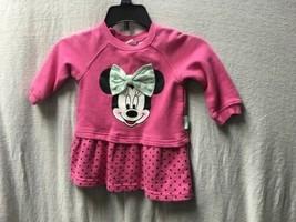 H&M Disney Baby Girls Pink Long Sleeve Minnie Mouse Dress - $12.86