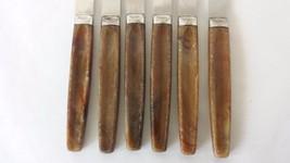 Set of 6 Regent Sheffield Brown Handle Steak Knives - $22.76