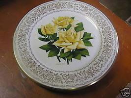 GORHAM Rose of Year Collection Plate- IRISH GOLD 1970...................... - $11.09