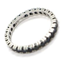 18K WHITE GOLD ETERNITY BAND RING, BLACK CUBIC ZIRCONIA, THICKNESS 3 MM image 5