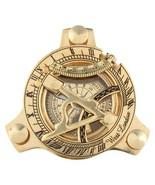 Maritime Astrolabe Solid Brass Navigation Sundial Compass Vintage Marine... - $20.75