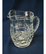 Vintage Anchor Hocking Juice Pitcher clear glass Star of David 14 oz EAPC - $5.00