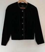 Tan Jay Petites Black Gold Velvet Lined Holiday Formal Women's Blazer Cl... - $16.95