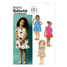 Butterick Patterns B5876 Toddlers' Children's Dress Sewing Templates, Size Cce - $14.70