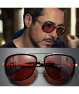 Sunglasses Vintage Tony Stark Iron Man Sunglasses Men Luxury Brand - $9.85