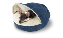 "Furhaven 35"" Round Faux Sheepskin Snuggery Pet Bed"