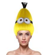 Adult Women's Minions Wig   Yellow Tall Cartoon Series Troll Wig HW-2175 - £23.32 GBP