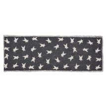 BLACK PRIMITIVE STAR Runner - 13x36 - Table or Dresser- Charcoal/Creme - VHC