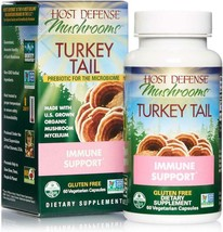 Host Defense, Turkey Tail, 60 Capsules, Natural Immune System and Digestive Supp - $32.66
