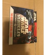 Star Wars Vehicles of Heroes & Villains Two decks of playing cards - $10.03