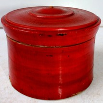 Vintage Wooden Box Lacquering Paint Of Brown Color Made In India #go483 - $18.36
