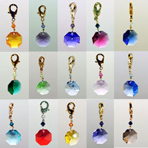 Crystal Octagon Zipper Pull - Color Varies image 2