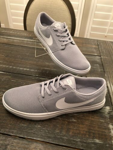 Nike Portmore Ultralight Wolf Grey White Fashion Sneaker Mens Size 11.5 NEW BOX