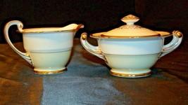 Noritake China Japan Goldora 882 Cream and Sugar with lid AA20-2140 Vintage image 2