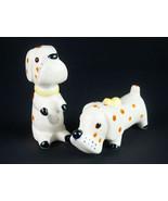 Napco Polka Dot Dogs Salt & Pepper Shaker Set, Vintage Spotted Basset Ho... - $14.70