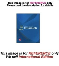 Essentials of Investments by Alex Kane, Zvi Bodie 11th ISE (Exclude Acce... - $64.90