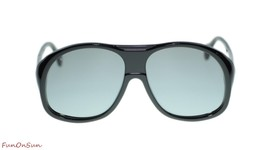 NEW Gucci Men's Sunglasses GG0243S 002 Black Grey Lens Designer 60mm Aut... - $192.06