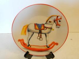 "Christmas Decorative Plate  8"" Diameter Rocking Horse  - $8.59"