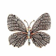 Women's Brooches & Pins Vintage Breastpin Rhinestone Butterfly Brooches Accessor
