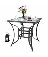 Love & Peace 36' x 36' Outdoor Patio Dining Bar Table Aluminum Square Bi... - $266.27
