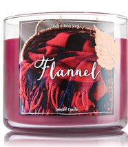 Bath & Body Works Flannel Three Wick 14.5 Ounces Scented Candle - $22.49