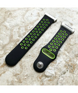 Black with Green Smooth Rubber Silicone Sports Band Strap for Fitbit Ionic - $24.99