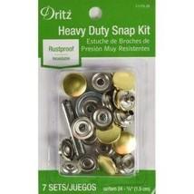 Kit Snaps Rustproof Heavy Duty Gold 7 Sets - $8.99