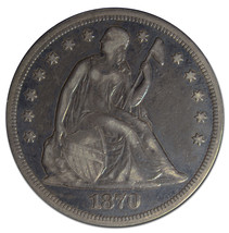 1870 Seated Silver Liberty $1 Dollar Coin Lot# MZ 3109 - $373.07