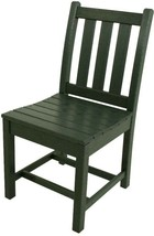 POLYWOOD Outdoor Dining Side Chair Stationary Weather Resistant Plastic ... - $175.34