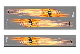An item in the Sporting Goods category: White Water Archery WWA Grim Reaper Reap It Flames Gray Solid Color Stabilizer W