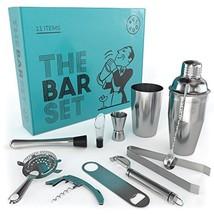 Home Bar Tools Set – 11 Piece cocktail set with strainer, jigger, 2 shak... - $51.33